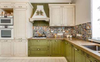 Кухни оливкового цвета — примеры дизайна, фото.