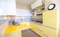 Кухня желтая в интерьере: фото и примеры сочетания цветов в дизайне помещения.