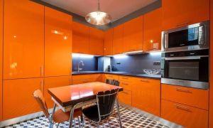Оранжевая кухня: примеры дизайна и фото.