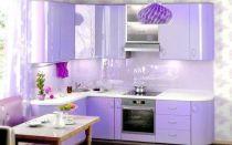 Кухня сиреневая в интерьере: фото и примеры сочетания цветов в дизайне помещения.