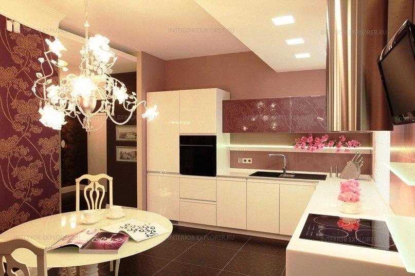 Белая кухня пластик