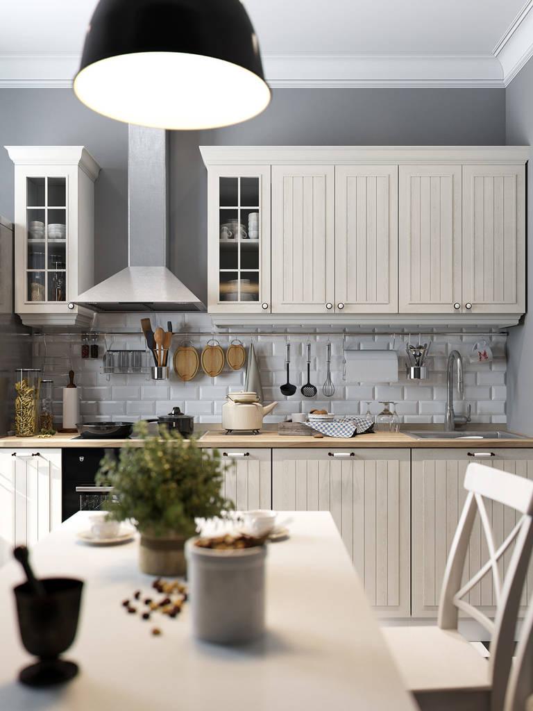 Красивые белые кухни