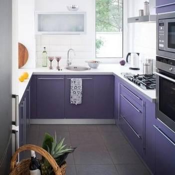 сиреневая кухня 3