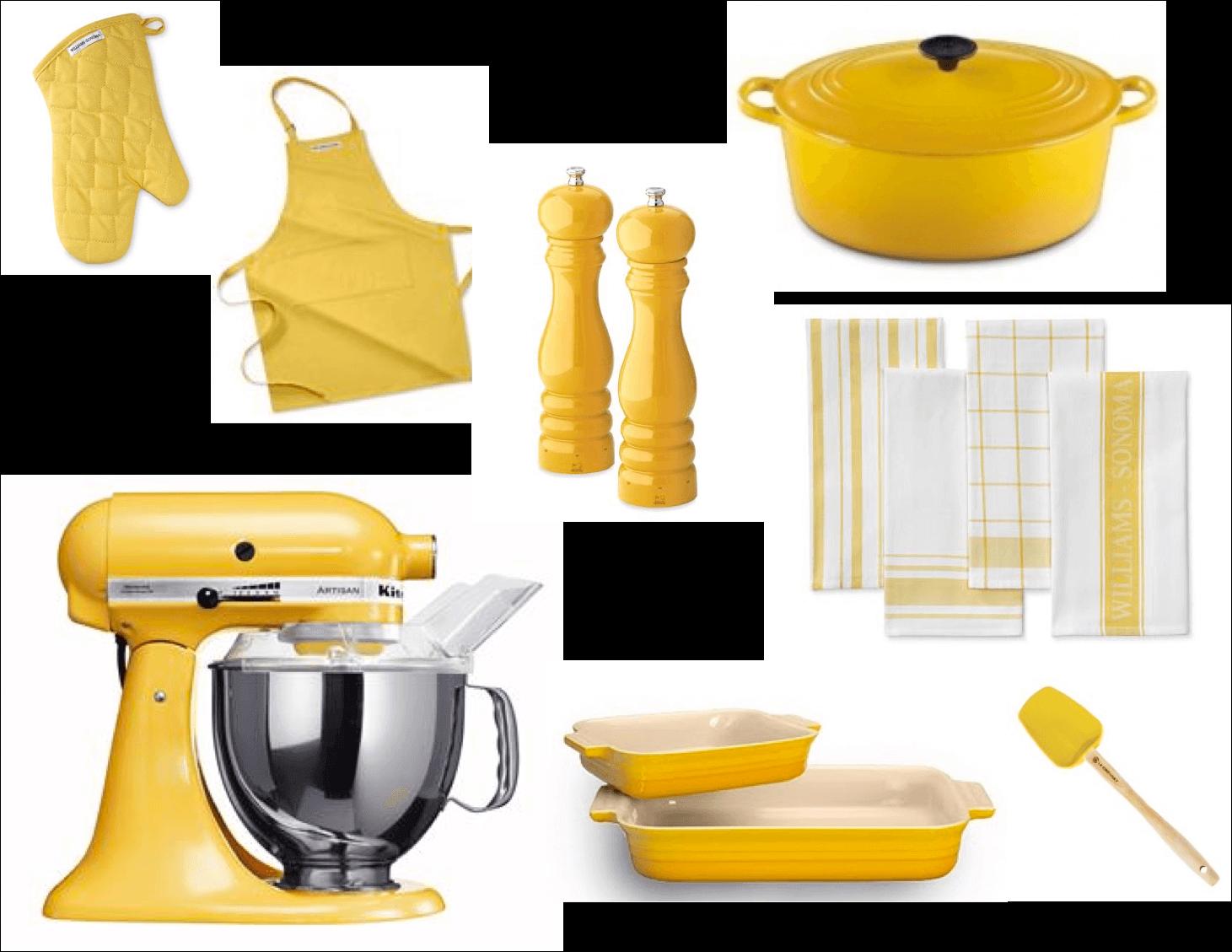 Кухонные принадлежности желтые